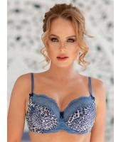 Бюстгальтер Lady Lux 426 Голубой леопард