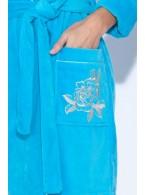 Нежный махровый халат с капюшоном Le Rosé (PM 727)