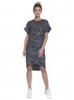 Платье - туника (PM France 1718) серый меланж