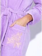 Укороченный махровый халат с капюшоном Le Rosé (PM 727)