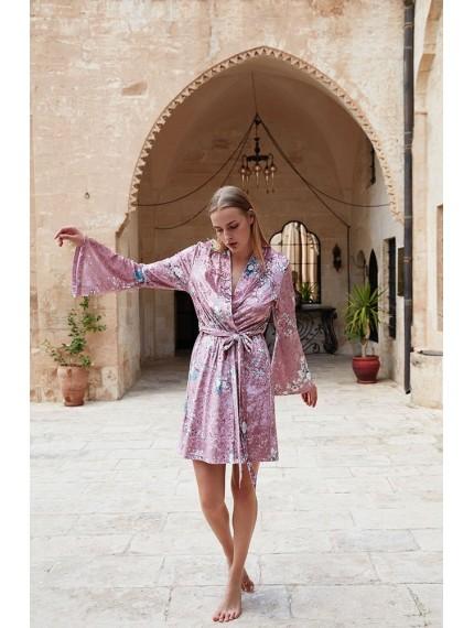 Велюровый халат Miss Loren PREFERITO комбинированный