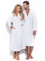 Белый махровый халат Arctic White (E 701)