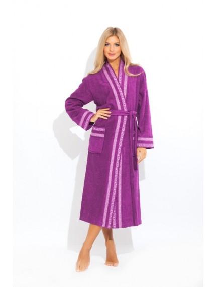 "Махровый халат PM ""Viva"" фиолетовый"