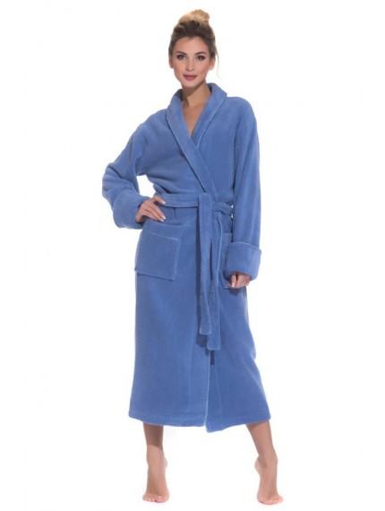 Махровый халат PAOLA голубой