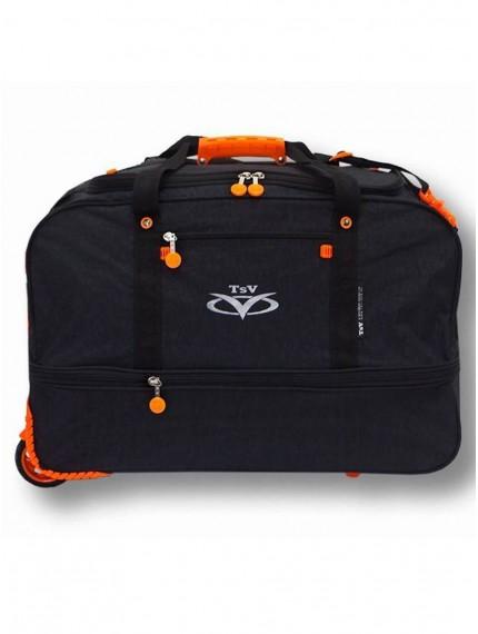 Дорожная сумка на колесах TsV 441.20 чёрный/апельсин