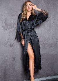 Черный халат Mia-Mia