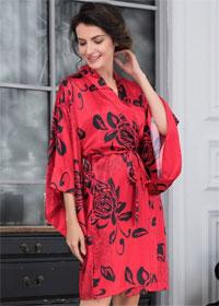 Красный халат-кимоно Mia-Mia