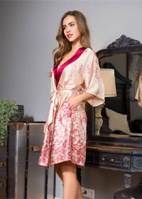 Розовый халат Mia-Mia