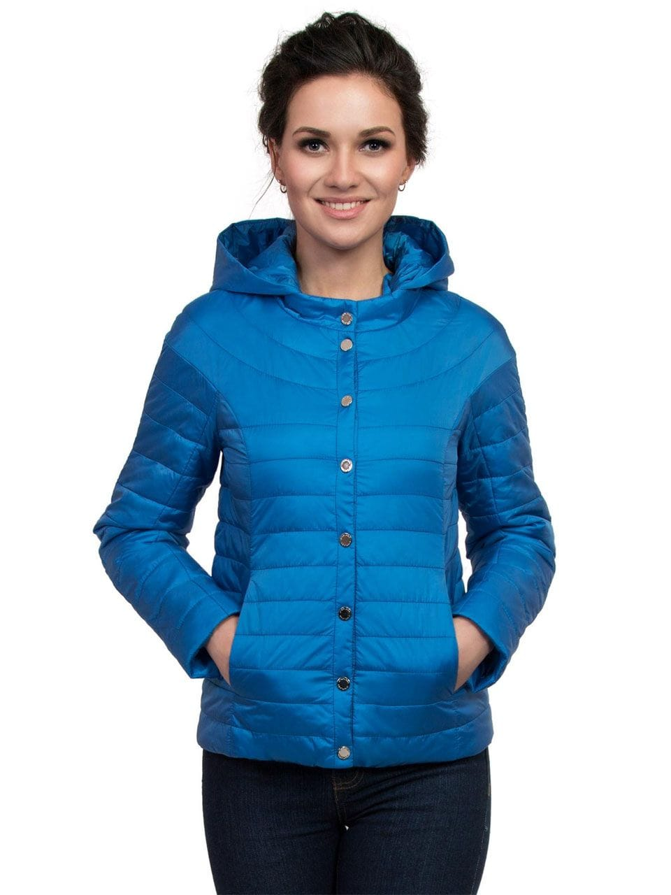 Синяя весення куртка с капющоном J-Splash